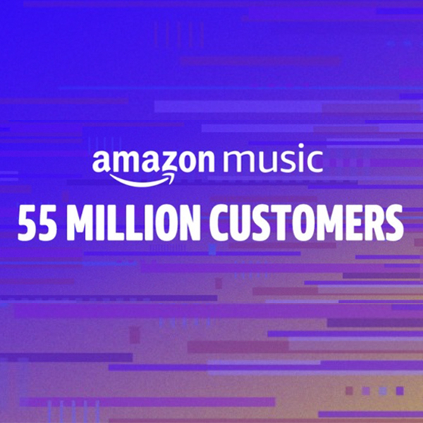 Amazon Music 55 million customers worldwide