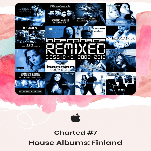 Interphace charted #7 in House albums Finland